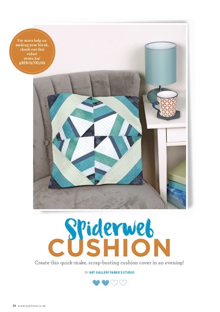 Quilt Now Issue 70 - Spiderweb Cushion