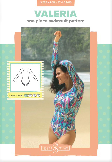 Valeria One Piece Swimsuit Pattern by Sirena Patterns