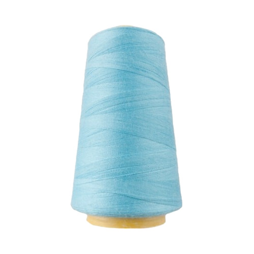Hantex Overlocker Thread - Light Aqua - 100% Polyester 3000 Yrds (2700+m)