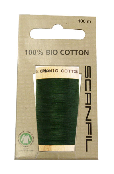 Scanfil Organic Thread 100 Metre Hang-sell - Forest Green