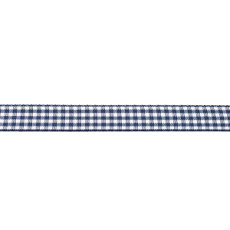 Dark Blue Gingham Ribbon - 10mm X 47.5m