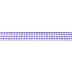 Purple Gingham Ribbon - 10mm X 47.5m