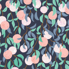 Birds Eye View The Bare Necessities Navy - Cloud 9 Quilters Weight Fabric 44in/45in Per Metre