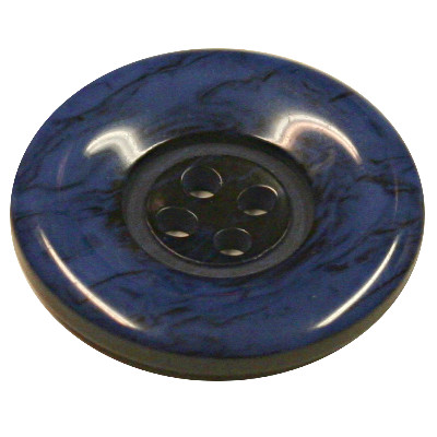 Acrylic Button 4 Hole Marbled 28mm Blue/black