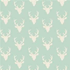 Hello Bear Tiny Buck Forest Mint - Art Gallery Fabric 44in/45in Per Metre