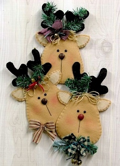 Rudy & Friends Wallhanging - Countryside Crafts Felt Pattern