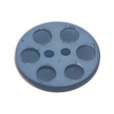 Acrylic Button 2 Hole Indented Circle 23mm Blue