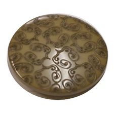 Acrylic Shank Button Embossed 15mm Deep Moss