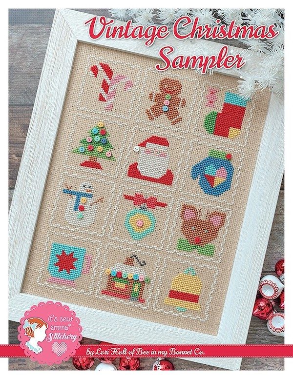 Vintage Christmas Sampler Cross Stitch Pattern - Lori Holt