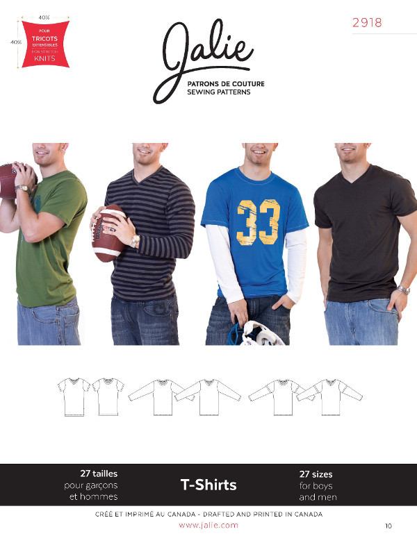 Mens T Shirts Pattern - Jalie Patterns