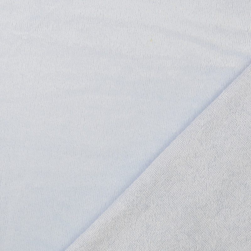 Pale Blue Bamboo Blend Towelling Fabric