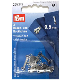 Prym Trouser And Skirt Hooks And Bars 9.5mm Silver Colour