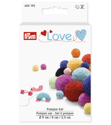 Prym Love Pompon Set 3 Sizes 9mm 3.3cm 5cm