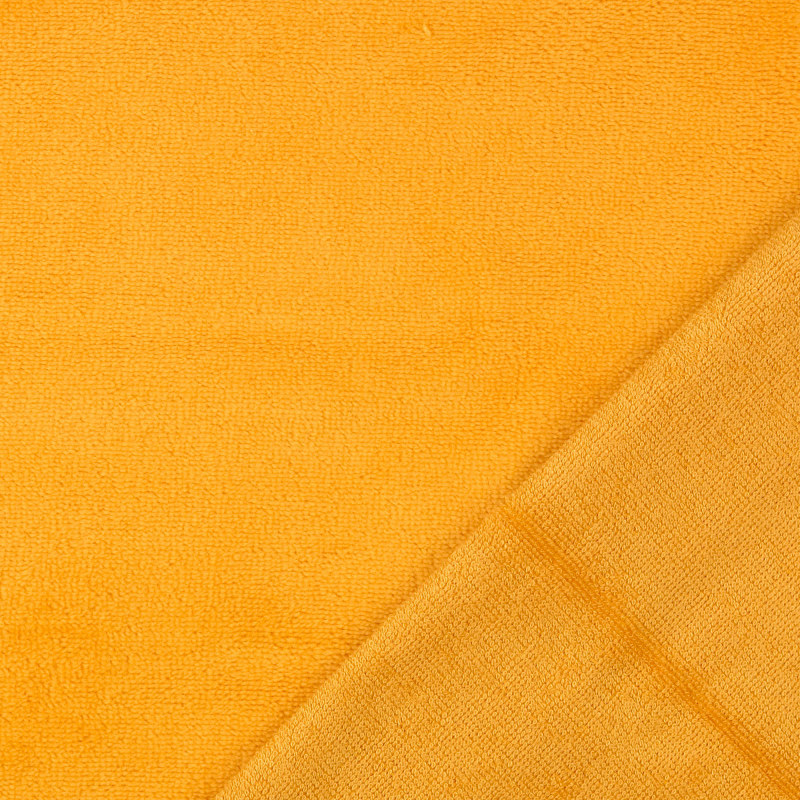 Ochre Bamboo Blend Towelling Fabric