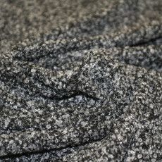 Oslo Blanco Boucle Fabric - Grey / Black