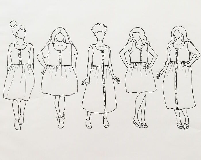 Hinterland Dress Sewing Pattern By Sew Liberated