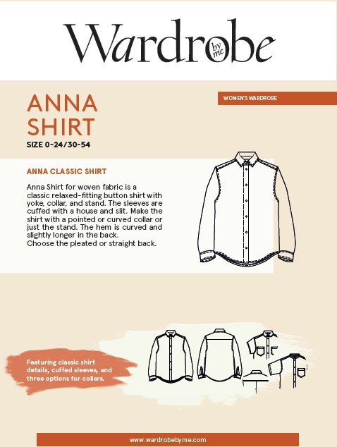 Anna Shirt Pattern by Wardrobe By Me